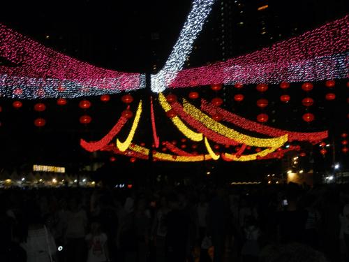 Illuminations in park
