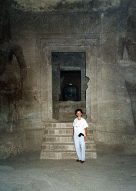 Interior Elephanta Island caves