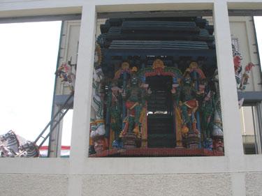 Detail of portable shrine