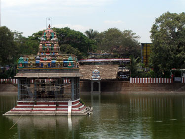 Temple in bathing pond