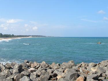 Sea north of Shore Temple