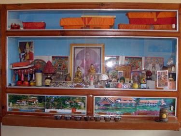 Shrine in monk's quarters