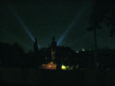 Bodhgaya temple at night