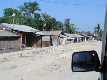 Roadside village in Assam