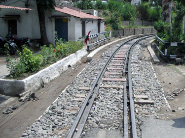 Toy train railway tracks