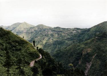 Himalayan foothills en route to Darjeeling