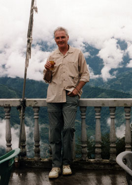 Derek at Pemayangtse in Sikkim