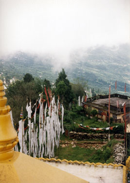 View down from the back of Ghoom monastery