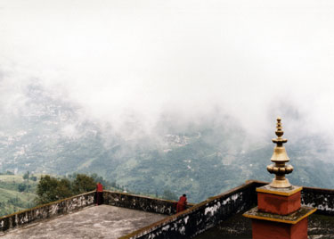 View across to Gangtok from Rumtek monastery
