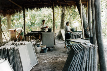 Hand-made paper factory