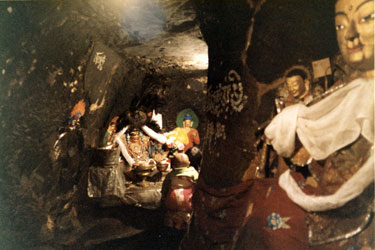The interior cave shrine