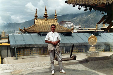 On the roof of the Jokhang