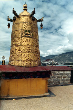 Jokhang roof decorations