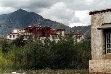 Potala from island in Kyi Chu