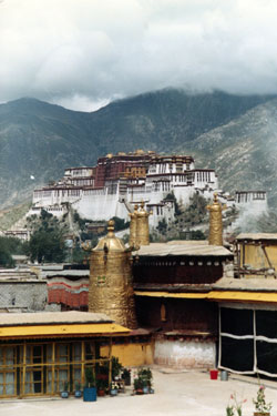 Potala from Jokhang roof