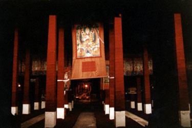 Ganden main assembly hall
