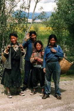 Children near Gyantse
