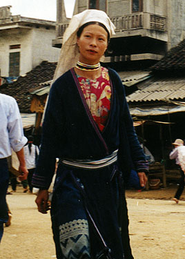 Minority peoples lady in market