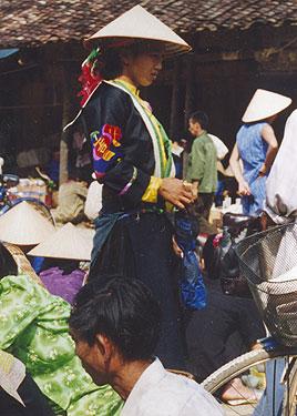 Hilltribe lady in market