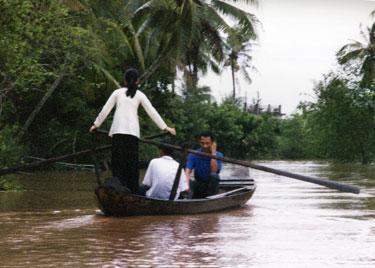 Sheila on canoe