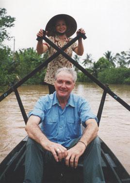 Derek on canoe