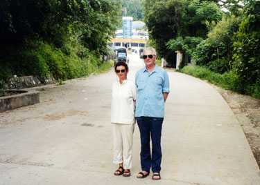 Derek & Sheila at Chinese border post