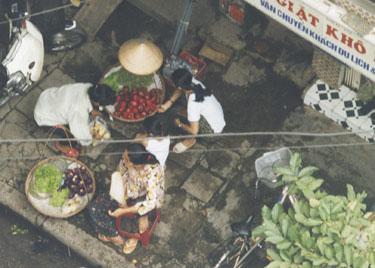Street vendors in Hanoi Street