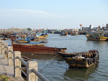 The fishing harbour at Phan Thiet