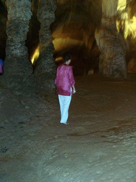 Sheila in cave