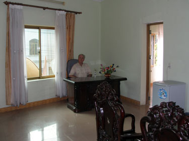 Derek in reception room